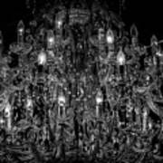 Chandelier 2360bw Poster