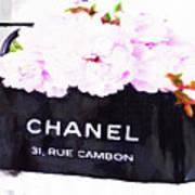 Chanel Bag With Peony  Poster