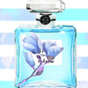Chanel Blue Decor Poster