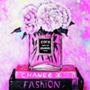Chanel Perfume With Peony Poster