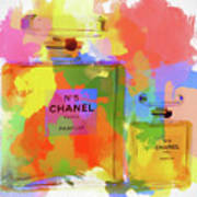 Chanel Five Watercolor Poster