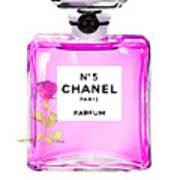 Chanel N 5 Perfume Print Poster