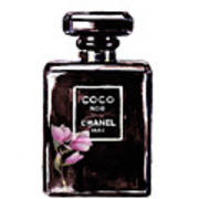 Chanel Noir Magnolia Pink Poster
