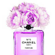 Chanel Print Chanel Poster Chanel Peony Flower Poster