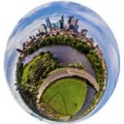 Change Your Perspective Minneapolis White Surround Poster