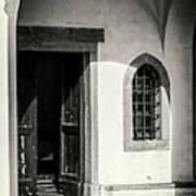 Chapel In Riomaggiore Cinque Terre Italy Bw Poster