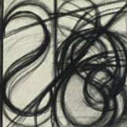 Charcoal Arc Drawing 7 Poster