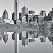 Charcoal Big D Reflection Poster