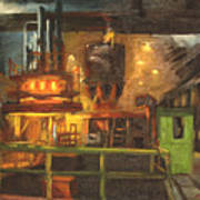 Charging The Arc Furnace Poster by Martha Ressler
