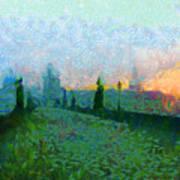 Charles Bridge At Dawn Poster by Peter Kupcik