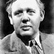 Charles Laughton Vintage Actor Poster