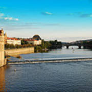 Charle's Or Carl's Bridge View In Prague Poster