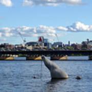 Charles River Boston Ma Crossing The Charles Citgo Sign Mass Ave Bridge Poster