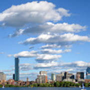 Charles River Cloud Stack Boston Ma Poster