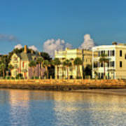 Charleston Battery Row Of Homes  Poster