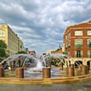 Charleston Fountain Poster