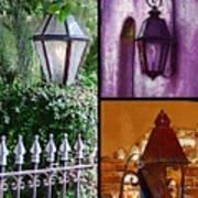 Charleston Lanterns Poster