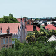 Charleston Rooftops - Queen And Church Streets Poster