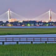 Charleston South Carolina Skyline Poster
