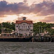Charleston Wharf Poster
