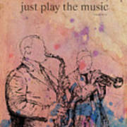 Charlie Parker Quote. Dont Be Afraid, Just Play The Music. Poster