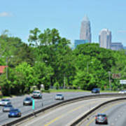 Charlotte Skyline From A Distance Poster