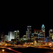 Charlotte Skyline Panoramic Poster