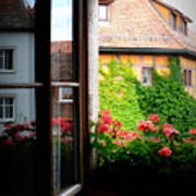 Charming Rothenburg Window Poster