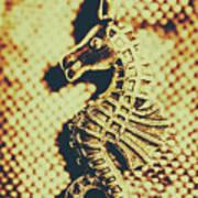 Charming Vintage Seahorse Poster