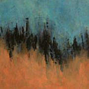Chasing Stories Abstract Painting Poster