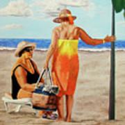 Chat On The Beach - Chat En La Playa Poster