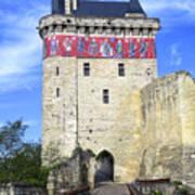 Chateau De Chinon Poster