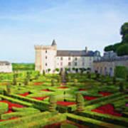 Chateau De Villandry, Loire, France Poster