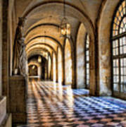 Chateau Versailles Interior Hallway Architecture  Poster