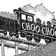 Chattanooga Choo Choo Sign In Black And White Poster
