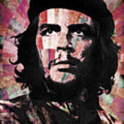 Che Guevara Revolution Red Poster