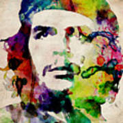 Che Guevara Urban Watercolor Poster by Michael Tompsett