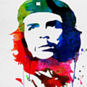 Che Guevara Watercolor 2 Poster