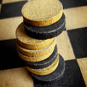 Checkers On A Checkerboard Poster