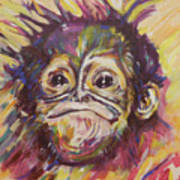 Cheeky Lil' Monkey Poster