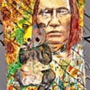 Cherokee Chief With Friend Mr.p Poster