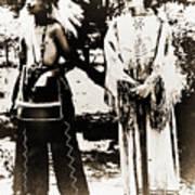 Cherokee Indian Couple Poster