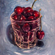 Cherries Original Oil Painting Poster
