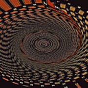 Cherry Basket Weaving Abstract Poster
