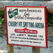 Cherry Pit Spitting Poster