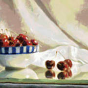 Cherry Still Life Poster