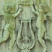 Cherubs In Moss Green Poster