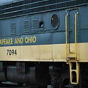 Chesapeake And Ohio Boxcar  Poster