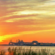 Chesapeake Bay Bridge Sunset Poster