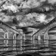 Chesapeake Bay Bw Poster
